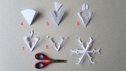 Turbo Scherenschnitt in 3D - eine einfache Schneeflocke | Famigros XV94