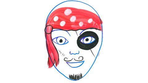Modèle de maquillage d'un pirate