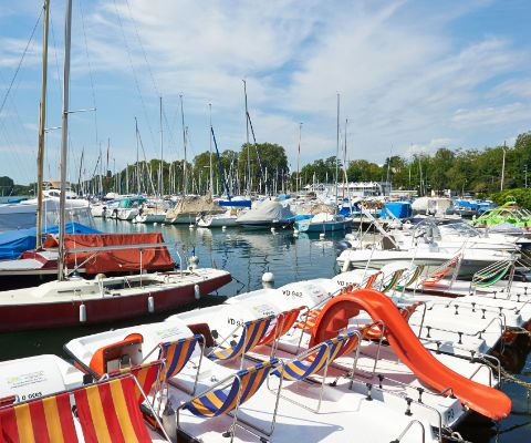 Hafen am TCS Camping in Morges