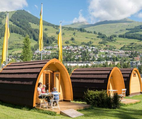 Glamping im TCS-Camping in Scuol