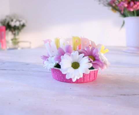 Arrangement floral Happy Birthday