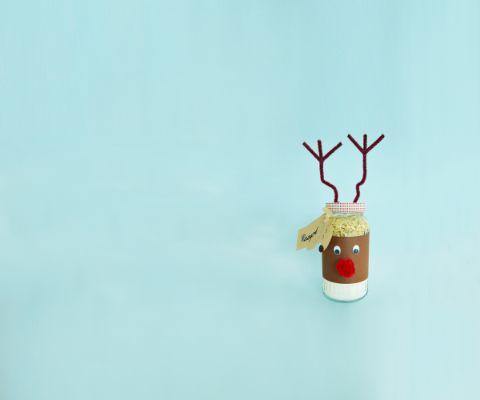 Marmeladenglaeser dekorieren lustige rentierverpackung famigros - Marmeladenglaser dekorieren ...