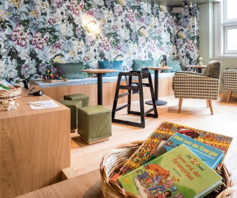 Kinderspielecke im Restaurant tibits in St. Gallen