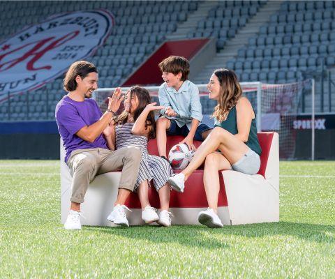 FC Thun Assistenztrainer Nelson Ferreira mit seiner Familie