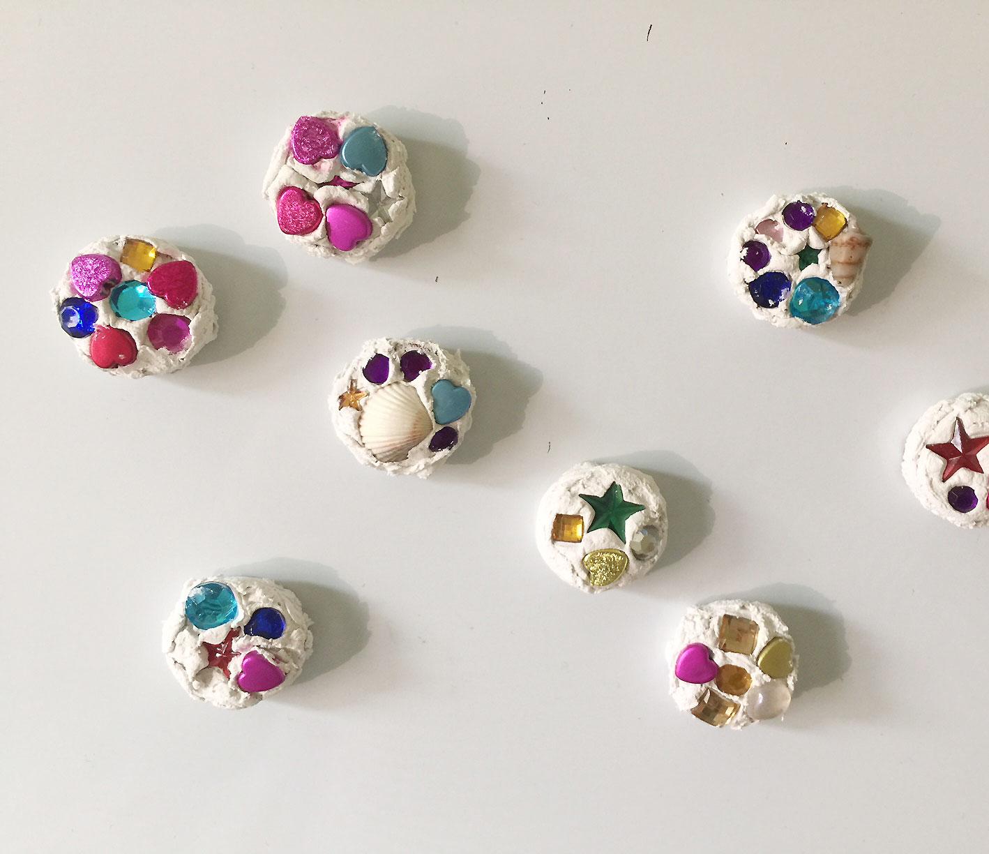 Weihnachtsgeschenk Basteln Magnete Verzieren Famigros