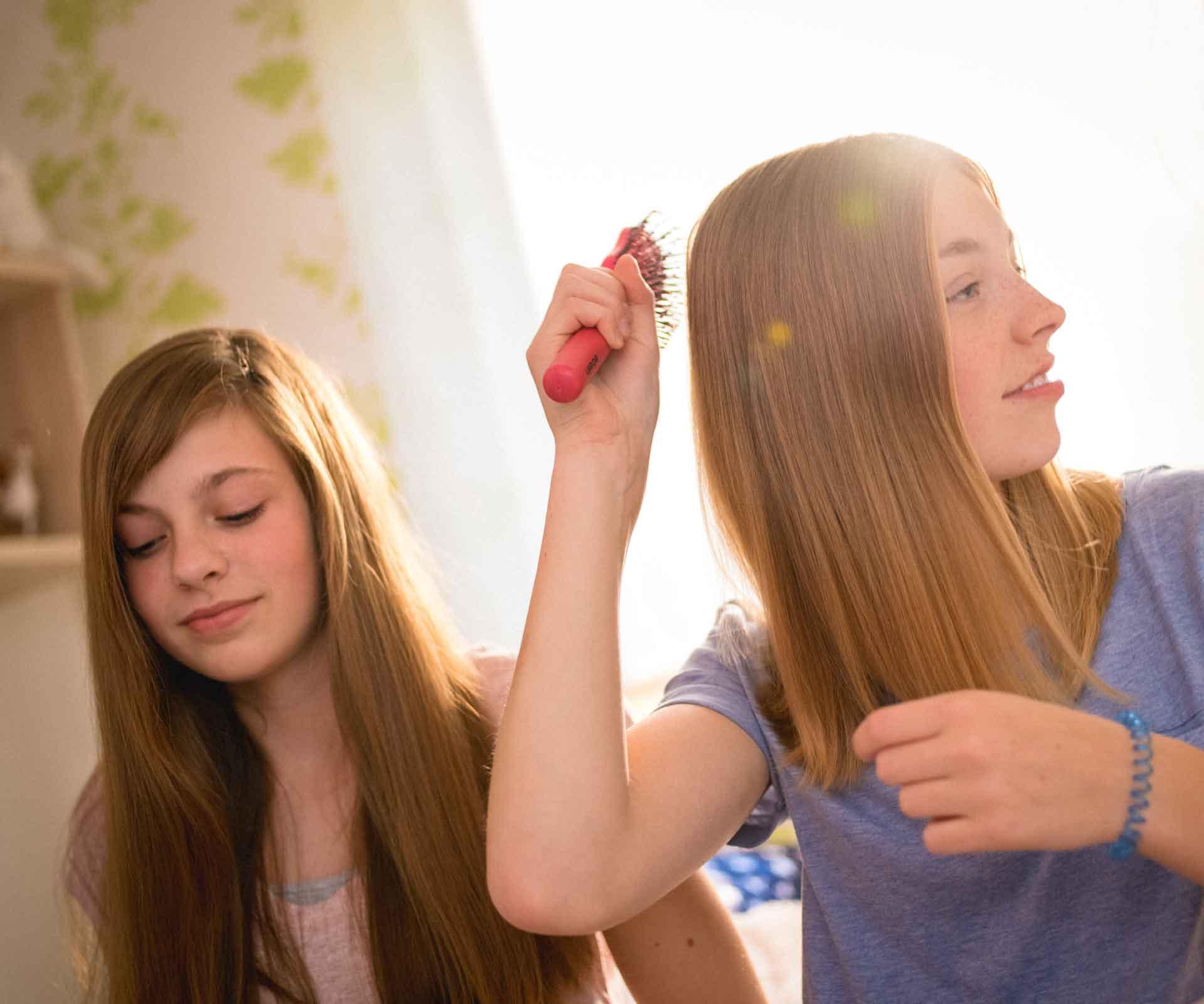 Lange haare teenager jungs