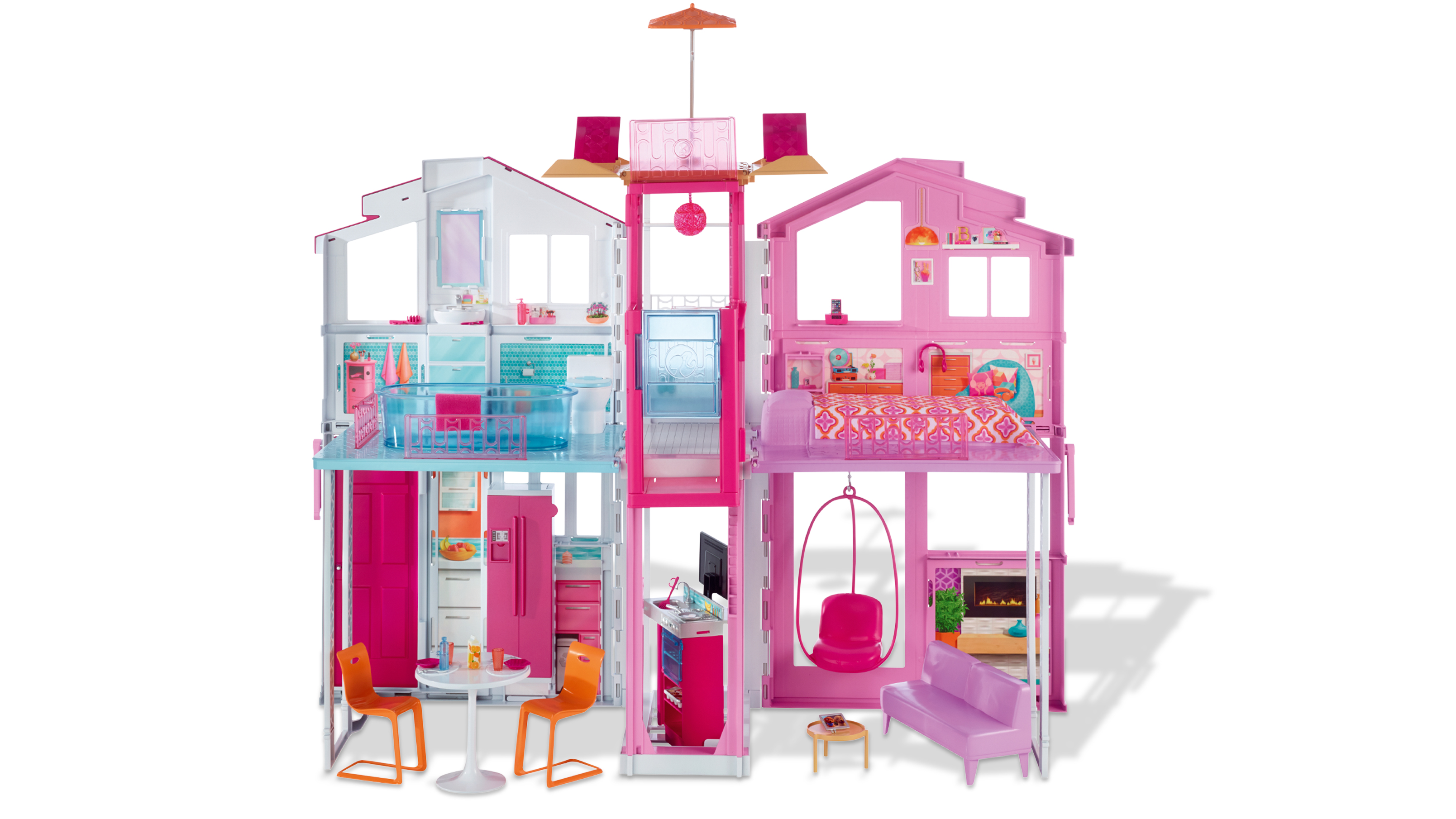 barbie 3 etagen stadthaus famigros. Black Bedroom Furniture Sets. Home Design Ideas